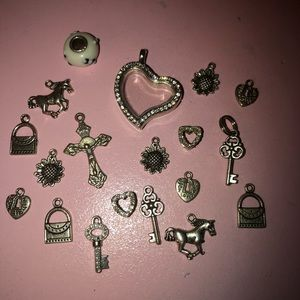 Jewelry - Bundle of charms and a locket jewelry
